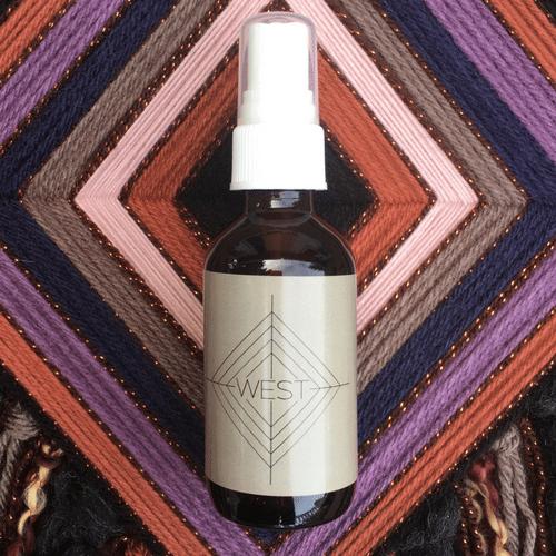 West • Spirit Mist All over face, body + linen spray by Godseye Oils, Natalie Rose Silva Chaput